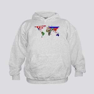 World Map With Flags Hoodie